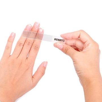 ACRATO Polierfeile Nagelfeile Glasnagelfeile mit Nanotechnologie für die perfekte Nagelpflege Beuty aus Hartglas Importiert aus Südkorea -