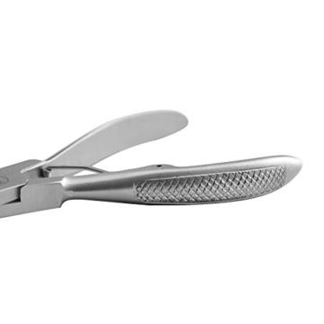 K-Pro Nagelzange für starke & dicke Fußnägel - Fußnagelzange / Pediküre Zange (Satin) -