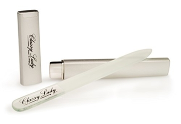 ClassyLady Professionelle Kristallglasfeile mit Koffer - Premium-Kristallnagelfeile - Luxus-Qualität Kristallnagelfeile Set - Glasnagelfeile -