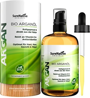 bio argan l 100ml f r haare haut gesicht und n gel argan oil 100 unber hrt kaltgepresst. Black Bedroom Furniture Sets. Home Design Ideas